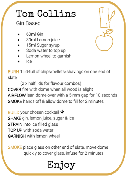 Tom Collins Smoked Cocktail Recipe by And Molotov