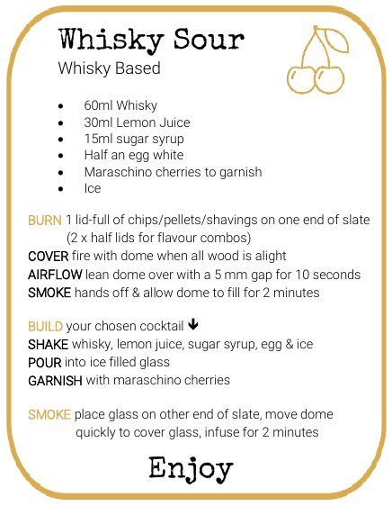 Whisky Sour Smoked Cocktail Recipe by And Molotov