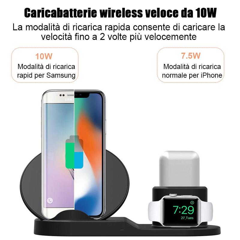 3 in 1 Qi Caricatore Wireless