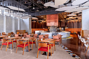 Aloft Bangkok Sukhumvit Dining Restaurant with variety of local or international food. Located in Sukhumvit soi 11.