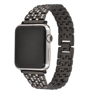 Full Diamond Stainless Steel Watch Band For iWatch4,3,2,1