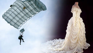 The Ultimate Upcycle: Wedding Gowns Made from Parachutes