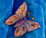 Light Purple and Topaz Magnetic Butterfly Brooch - Laura Wilson Gallery