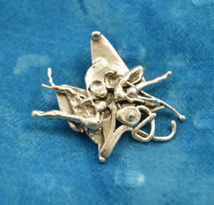 Tiny Bouquet Fused Sterling Brooch - Laura Wilson Gallery