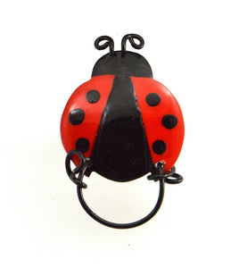 Hand Painted Ladybug Magnetic Eyeglass Holder - Laura Wilson Gallery