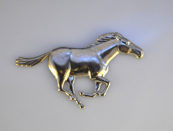 Running Horse Magnetic Eyeglass Holder Or Brooch - Laura Wilson Gallery