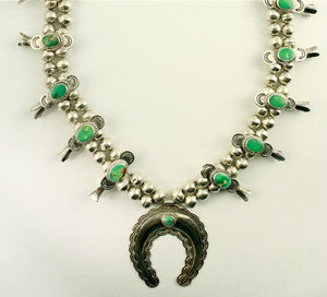 Vintage Squash Blossom Necklace - Laura Wilson Gallery