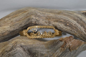 14k Gold Filled Wire Bracelet for Laura - Laura Wilson Gallery