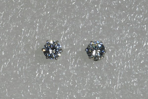 Faceted 7 mm Cubic Zirconia In 6 Prong Gold Setting Magnetic Earrings - Laura Wilson Gallery