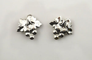 Nickel Plated Brass Grape Cluster Magnetic Non Pierced Clip Earrings - Laura Wilson Gallery
