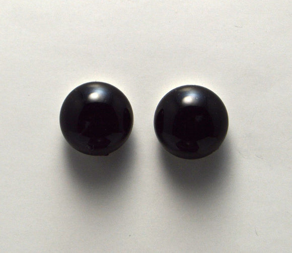 15 mm Black or White Acrylic Button Magnetic Clip On Earrings - Laura Wilson Gallery
