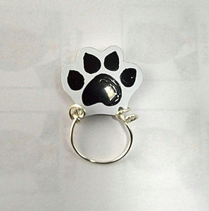 Hand Painted Cat Paw Print Magnetic Eyeglass Holder - Laura Wilson Gallery