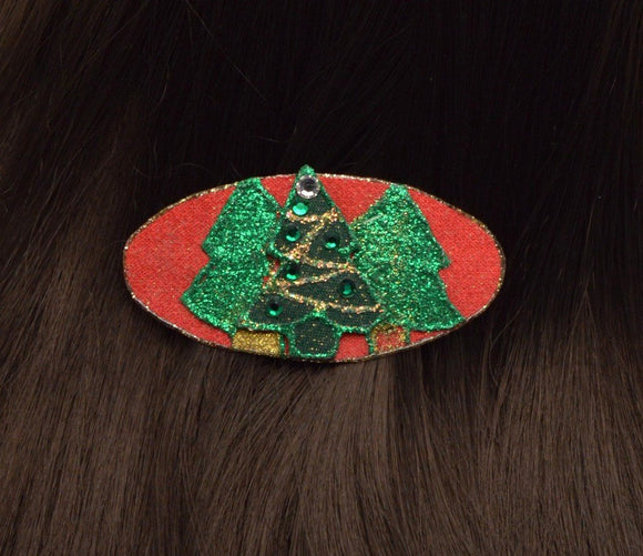 Handmade and Hand Painted Small Hair Barrettes in 3 Styles - Laura Wilson Gallery