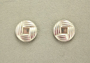14 Karat Gold or Nickel Plated 20 mm Button Woven Knot Magnetic Clip Non Pierced Earrings - Laura Wilson Gallery