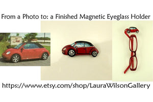 Custom Car Magnetic Eyeglass Holder Made to Order - Laura Wilson Gallery