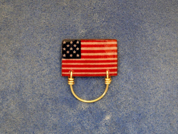American Flag Magnetic Eyeglass Holder - Laura Wilson Gallery