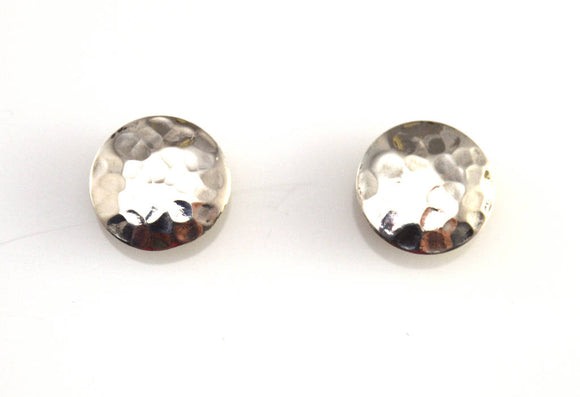 Handmade Original Design Hammered Sterling Silver Pierced or Magnetic Earrings - Laura Wilson Gallery