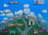 9 x 12 Inch Paris France Collage - Laura Wilson Gallery