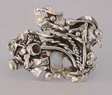 Handmade Original Design Magnetic Fused Sterling Silver Non Piercing Opal Brooch - Laura Wilson Gallery