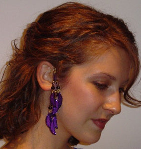 Handmade Deep Purple Non Pierced Ear Wraps - Laura Wilson Gallery