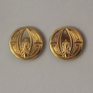 30 mm 14 Karat Gold Plated Magnetic Button Earrings With Free Magnets - Laura Wilson Gallery