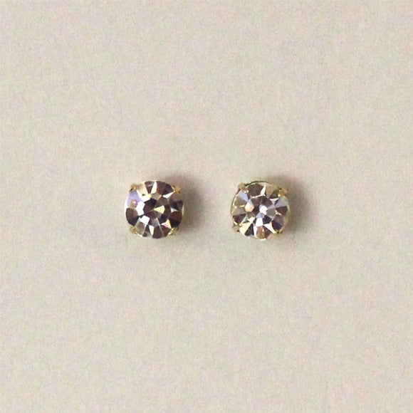 Magnetic Earrings 7 mm Diamond in Swarovski Crystal - Laura Wilson Gallery