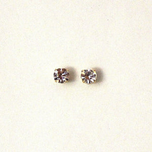 Men's Magnetic 3, 4, and 4.5 MM Round Setting Swarovsky Crystal Earrings & Extra Magnets - Laura Wilson Gallery