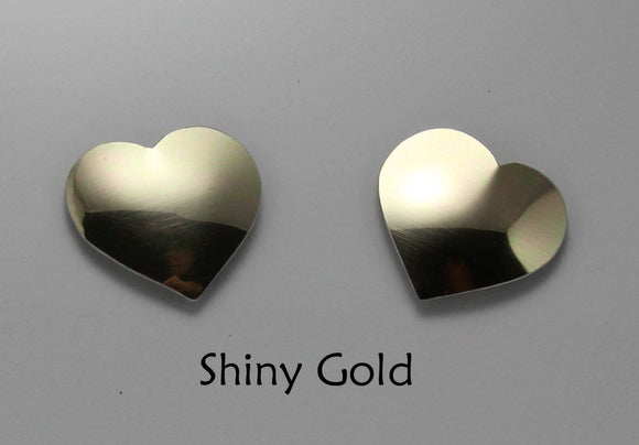 Small Magnetic Heart Earrings in Gold, Pink, Red or Silver - Laura Wilson Gallery