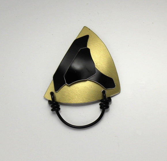 Special Abstract Edition Magnetic Eyeglass Holder in Black and Gold - Laura Wilson Gallery