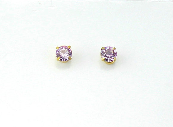 5 mm Magnetic  Earrings in Violet  Swarovski Crystal - Laura Wilson Gallery