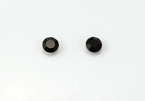 6 mm Black Faceted Glass Magnetic Earrings - Laura Wilson Gallery