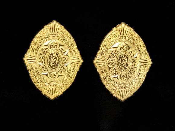 14 Karat Gold Plated Large Magnetic Earrings - Laura Wilson Gallery