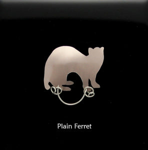 Custom Hand Made to Order Ferret Magnetic Eyeglass Holder - Laura Wilson Gallery