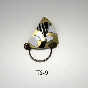 Handmade Original Design Aluminum Abstract Triangle Magnetic Eyeglass Holders - Laura Wilson Gallery