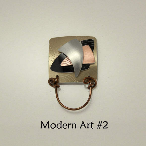 Magnetic Eyeglass Holder Limited Edition Modern Art Series Square - Laura Wilson Gallery