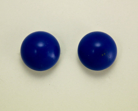 Magnetic or Pierced Lapis Blue, Red Violet Or Red 13 mm High Dome Cabochon Plastic Button Earring - Laura Wilson Gallery