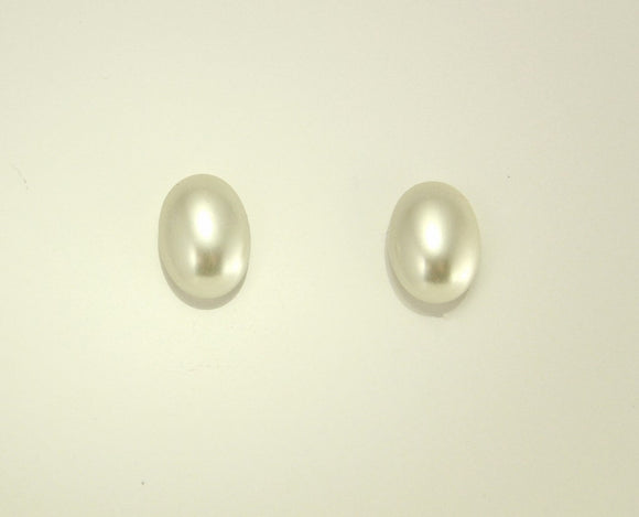 Oval Glass Pearl Magnetic Non Pierced or Pierced  Earrings 10 x 14 mm - Laura Wilson Gallery