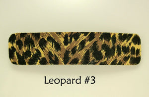 Handmade Leopard Print Fabric French Clip Hair Barrettes - Laura Wilson Gallery