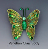 Magnetic Butterfly Brooches With Swarovski Crystal Accents - Laura Wilson Gallery