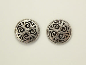19 mm Art Deco Magnetic or Pierced Earrings - Laura Wilson Gallery