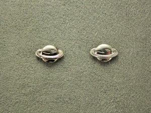 Handmade Tiny Silver Saturn Magnetic Non Pierced Clip Earrings - Laura Wilson Gallery