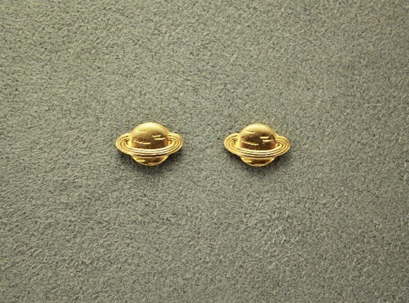 Handmade Tiny Gold Saturn Magnetic Non Pierced Clip Earrings - Laura Wilson Gallery