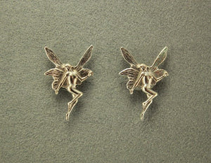 Gold or Silver Fairy Magnetic Non Pierced Clip or Pierced Earrings - Laura Wilson Gallery