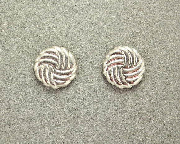 18 mm Woven Silver or Gold Knot Magnetic Earrings - Laura Wilson Gallery