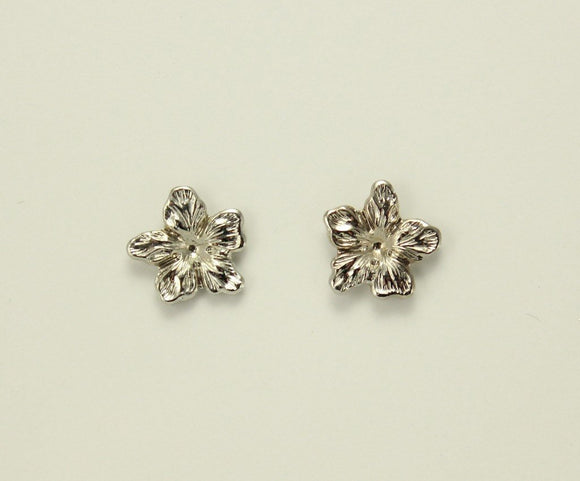 10 mm Silver Magnetic Non Pierced Clip or Pierced Flower Earrings