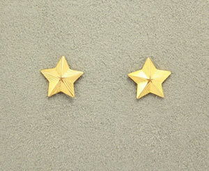 14 Karat Gold or Nickel Plated  Magnetic Clip Non Pierced Star Earrings - Laura Wilson Gallery