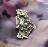 Lavender Fused Sterling Silver Magnetic One of a Kind Brooch - Laura Wilson Gallery