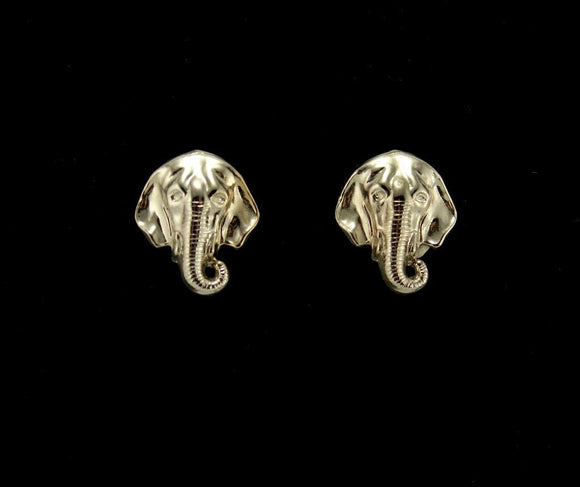Elephant Magnetic Clip Non Pierced Earrings in Silver or Gold - Laura Wilson Gallery