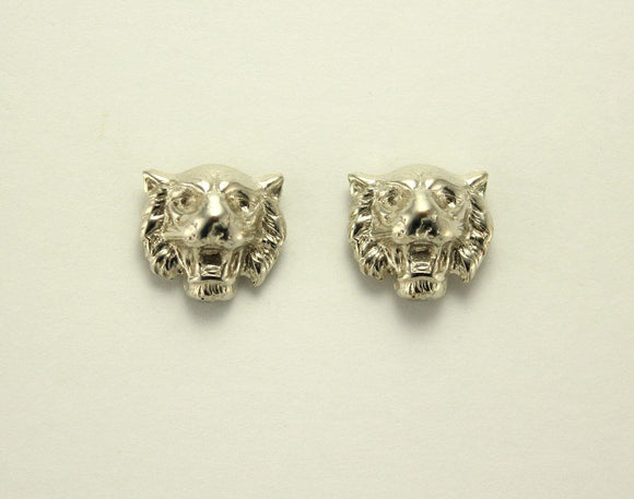 Silver Tiger Magnetic Non Pierced Clip Earrings - Laura Wilson Gallery