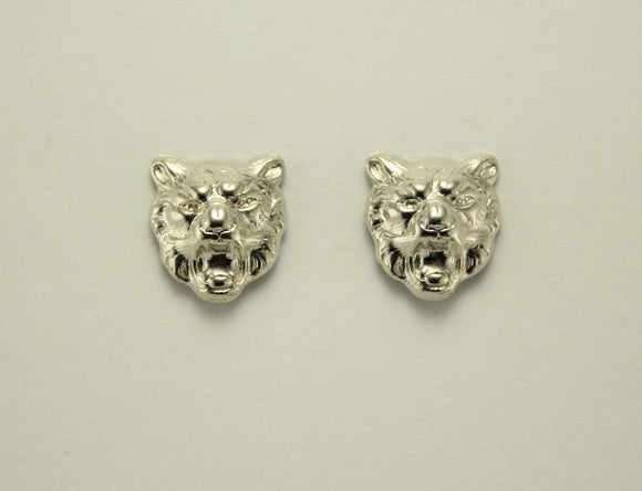 Silver or Gold Leopard Cat Magnetic Non Pierced Clip Earrings